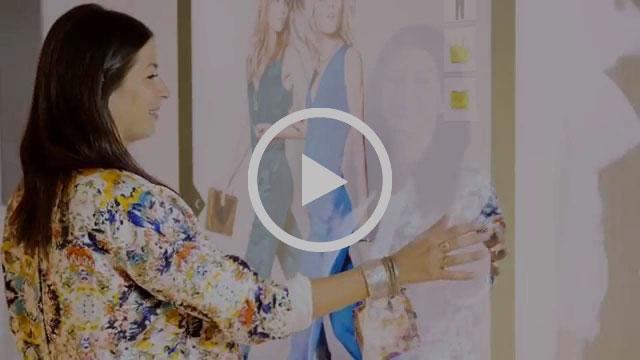 activación de marca espejo interactivo