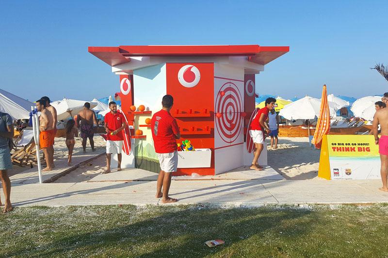 activaciones en la playa