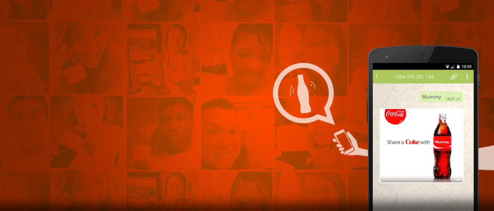 Campaña de whatsapp marketing de Coca Cola super personal